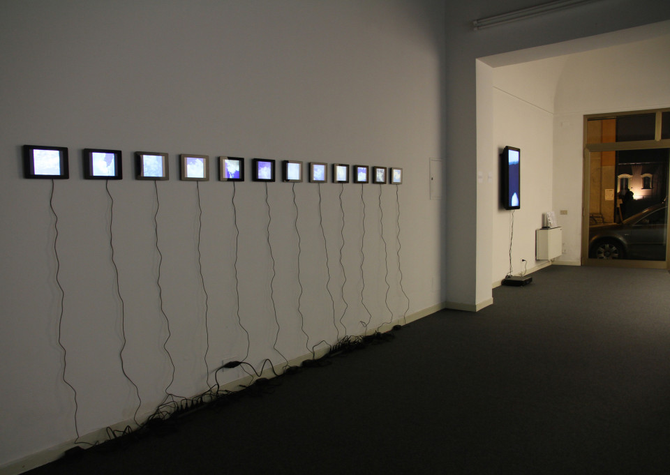 """Explosions in the Sky, installation view in """"Loading..."""" exhibition. Courtesy: Placentia Arte Gallery, 2011."""